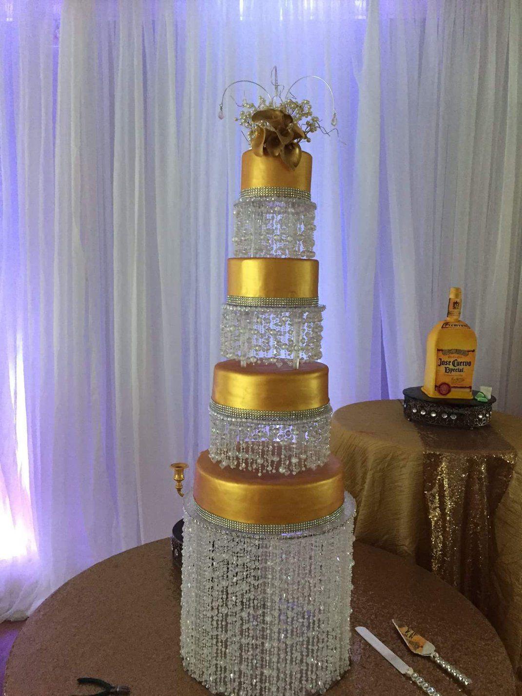 Cake With Crystals | Wedding cakes, Cake, Wedding