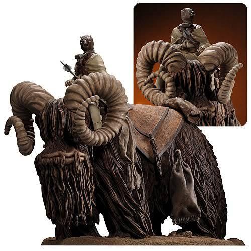 """Star Wars Bantha and Tusken Raider 12"""" Statue   Star Wars Movie animals"""