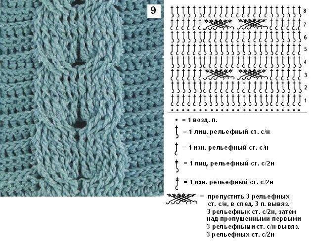 Узор-9   Crochet Muestrarios   Pinterest   Ganchillo, Croché y ...