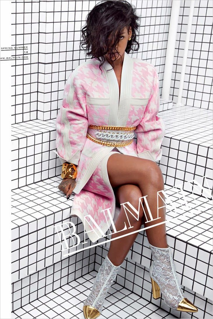 The Essentialist - Fashion Advertising Updated Daily: Balmain feat. Rihanna Ad Campaign Spring/Summer 2014