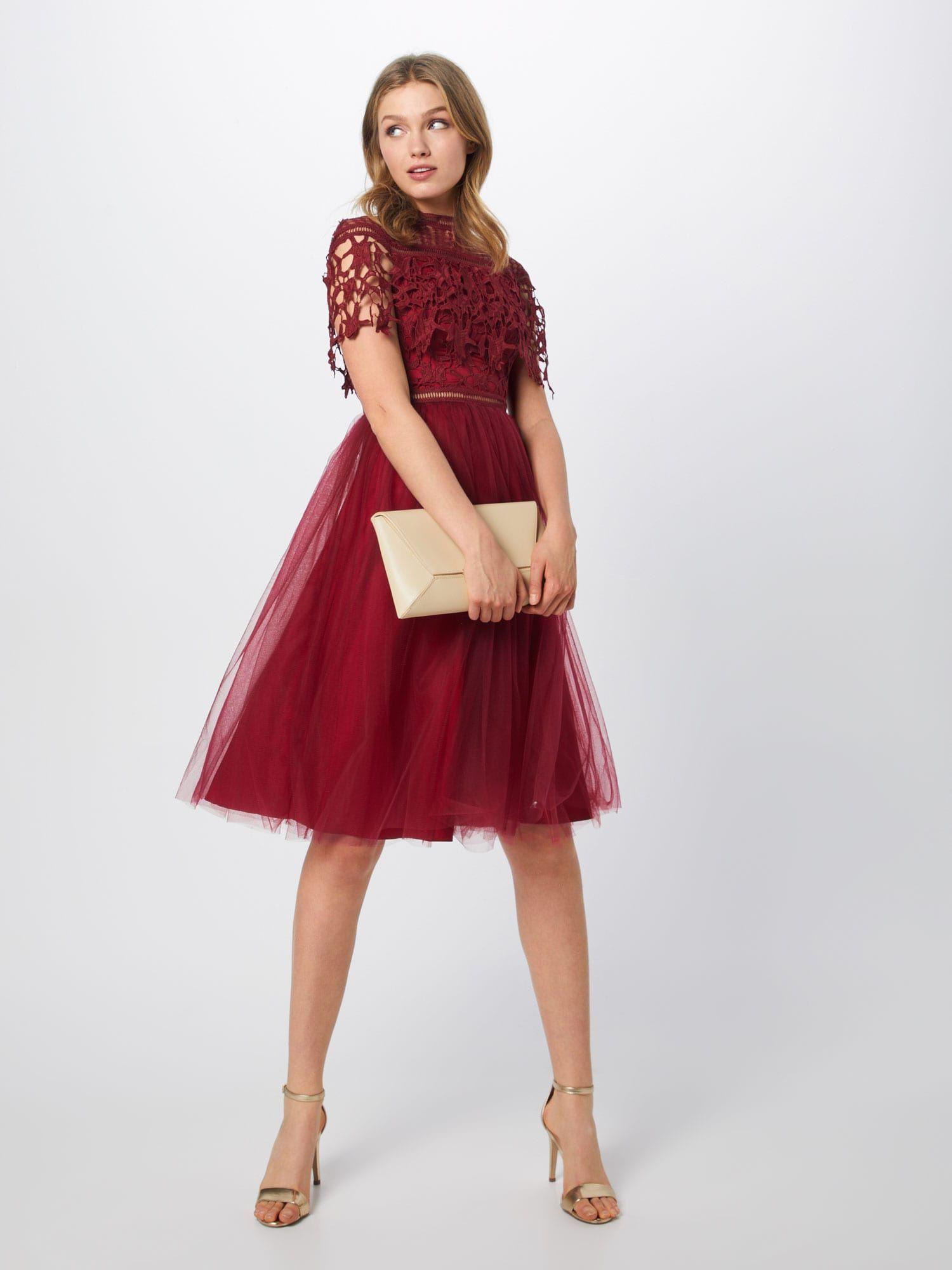 Chi Chi London Kleid Yeliz Blutrot Kleider Mode Modestil Mode