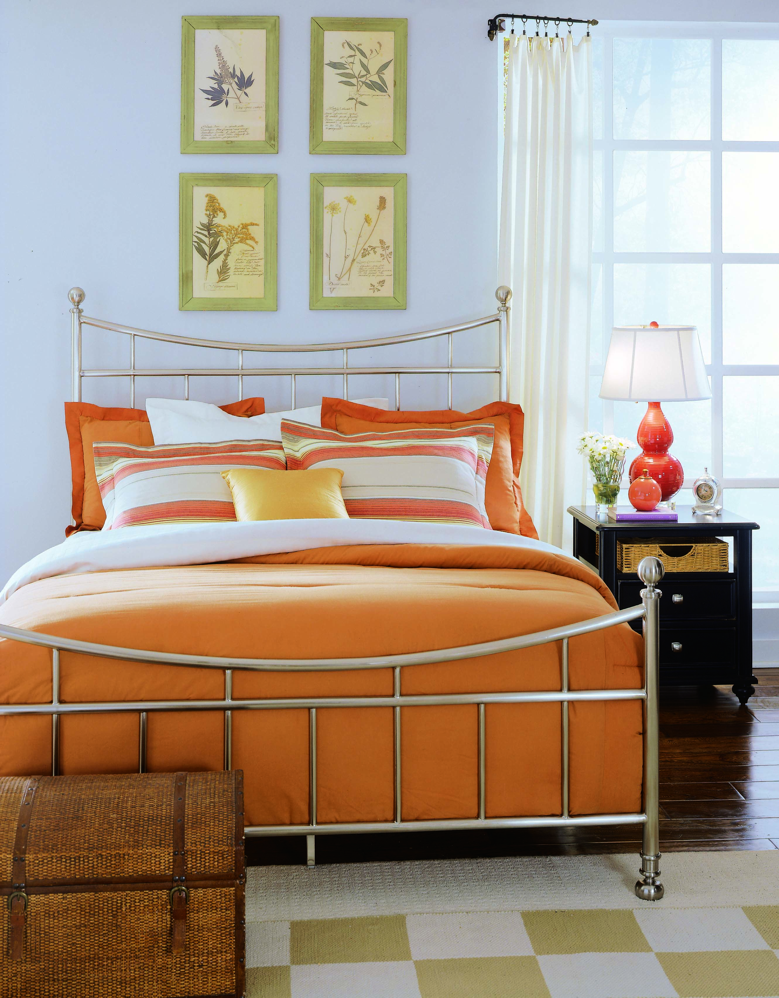 Sensational Camden Black Bedroom Metal Bed 4 6 Brushed Nickel Finish Home Interior And Landscaping Palasignezvosmurscom