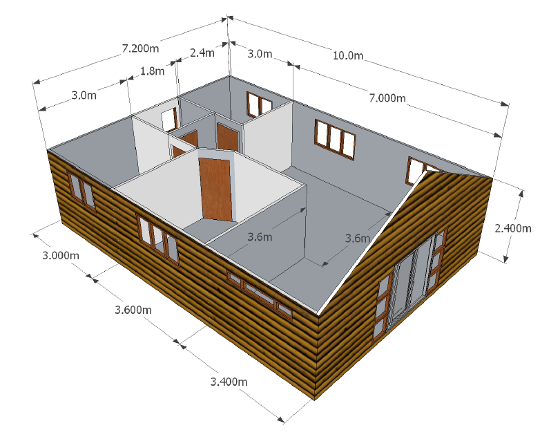 3 Bedroom Unit Wendy Houses Pretoria And Cape Town 012 670 9068 Nutec Houses Wendy House House Layout Plans