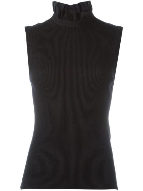 92fdb7491fb2ae FENDI Ruffled Collar Knit Top. #fendi #cloth #top   Fendi   Ruffle ...