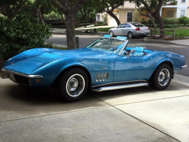 1969 Lemans blue Chevy Corvette Convertible Corvette