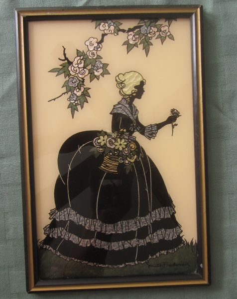 Smith Frederick painted silhouette. Information about collecting & different types