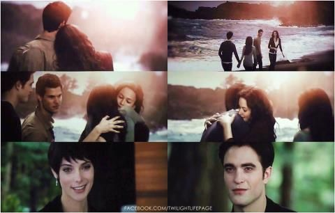 Alice's vision of Edward, Bella, Jacob, & Renesmee at the ...