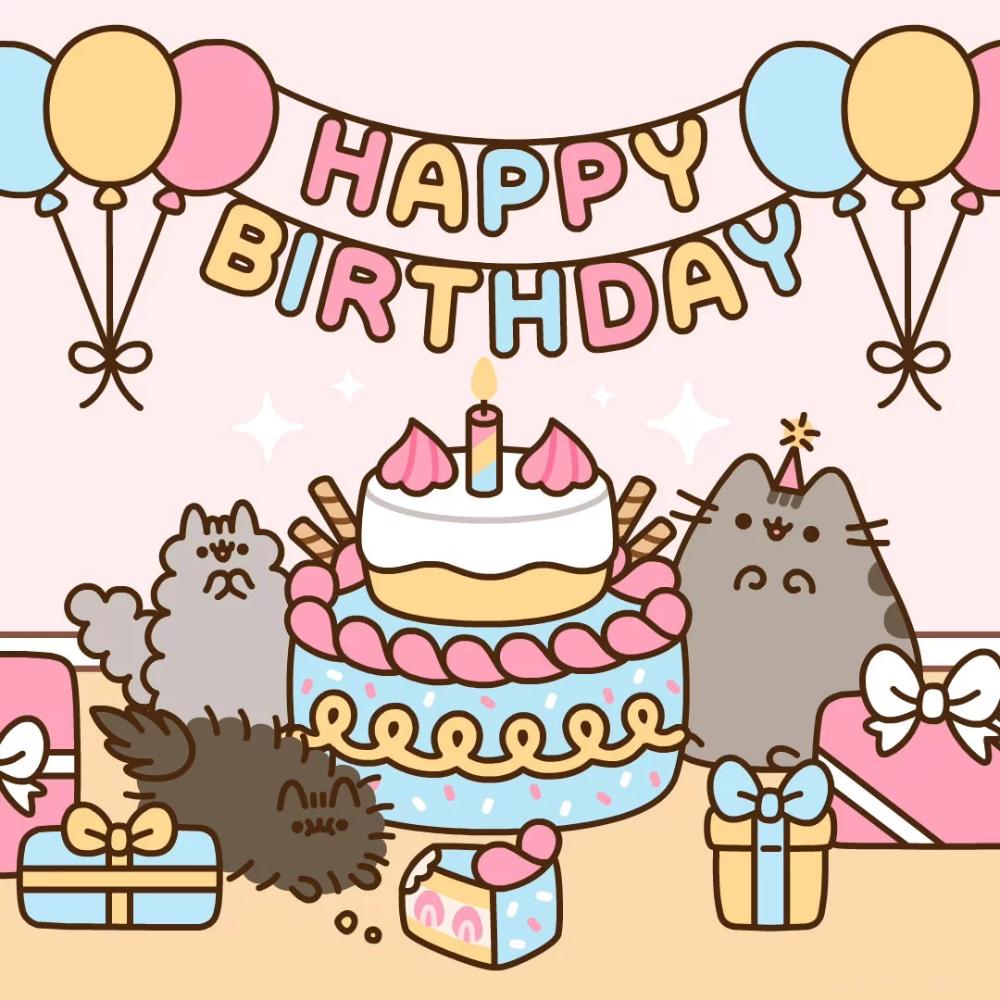 Pusheen S Birthday Pusheen Pusheen Birthday Pusheen Happy Birthday Happy Birthday Art