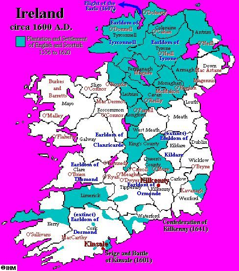 Map Of Ireland 1600.Ireland S History In Maps 1600 Ad My Ancestor Left About
