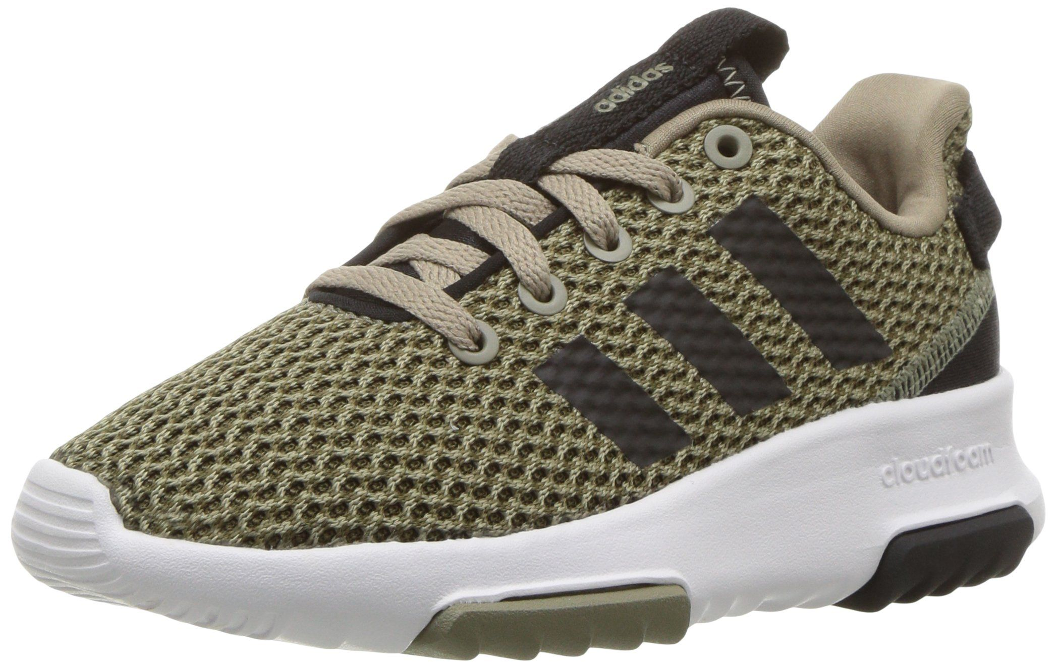 adidas NEO Big Kids CF Racer TR K SneakerTRACE OLIVEBLACKTRACE CARGO3 Medium US Big kid