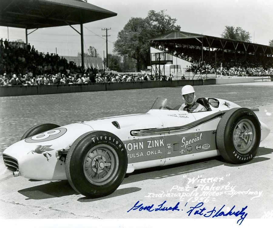 Pat Flaherty Finished First In The 1956 Indy 500 Driving For John Zink Was