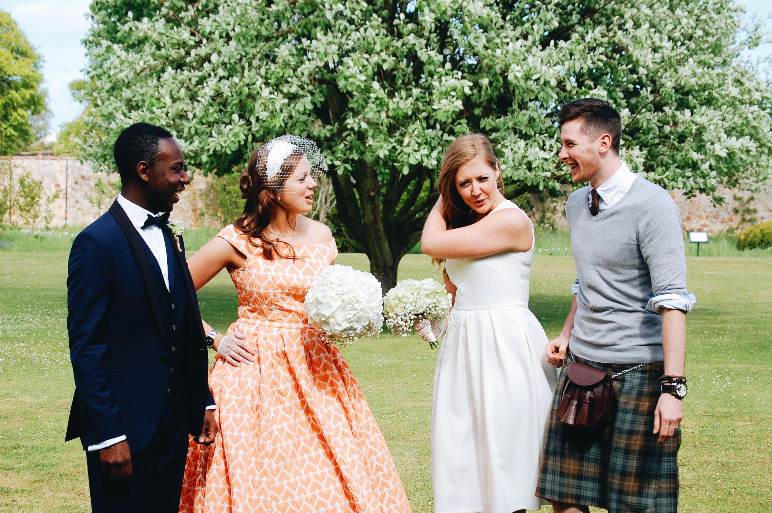 Best wedding dresses for the maids  Best Maidus Husband Jake in kilt  Scottish wedding Elona and