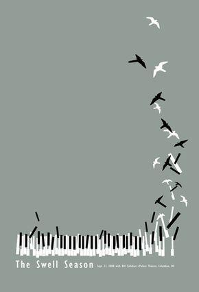 teclado de pássaros