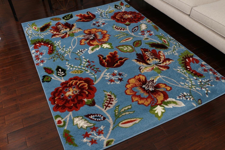 Amazon.com: Paris Collection Oriental Carpet Area Rug Cream Red Gold ...