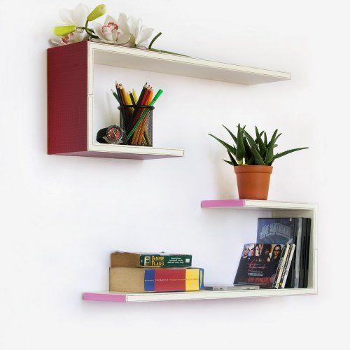 Trista Teenage Dream Crutch Shaped Leather Wall Shelf Bookshelf Floating Shelf Set Of 2 By Trista Wall Shelf Leather Wall Floating Shelves Wall Decor