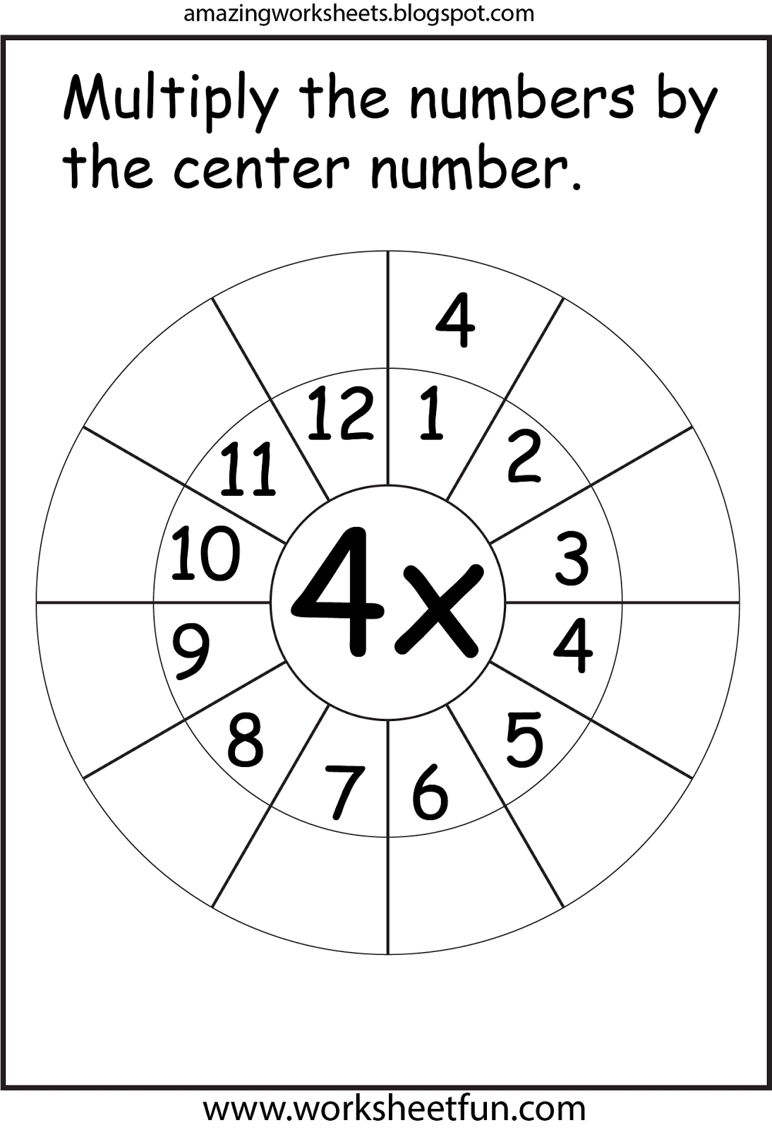 4 Times Table With Images