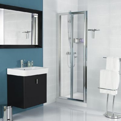 The In Fold Design Of Inward Opening Haven Bi Door Makes Clever Use Available E With Minimum Bathroom Intrusion