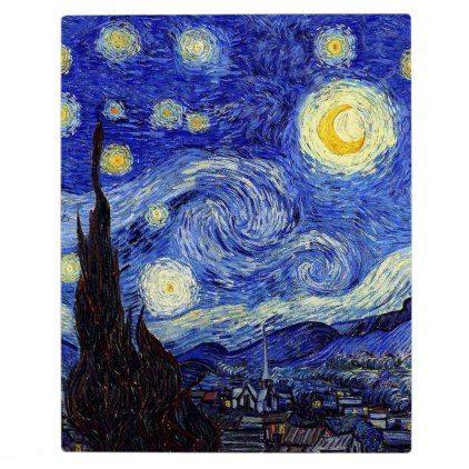 Starry Night Inspired Van Gogh Classic Products Plaque Zazzle Com Starry Night Van Gogh Gogh The Starry Night Starry Night Painting