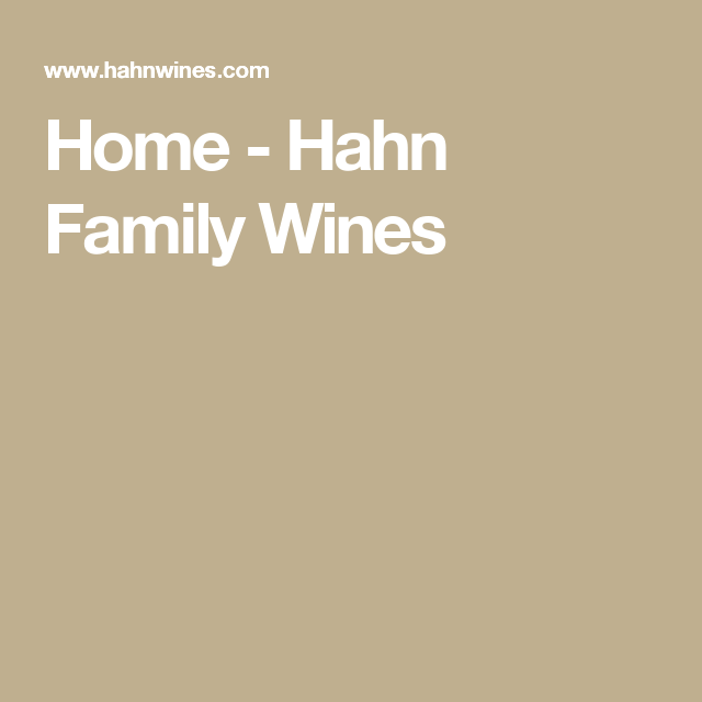Home - Hahn Family Wines
