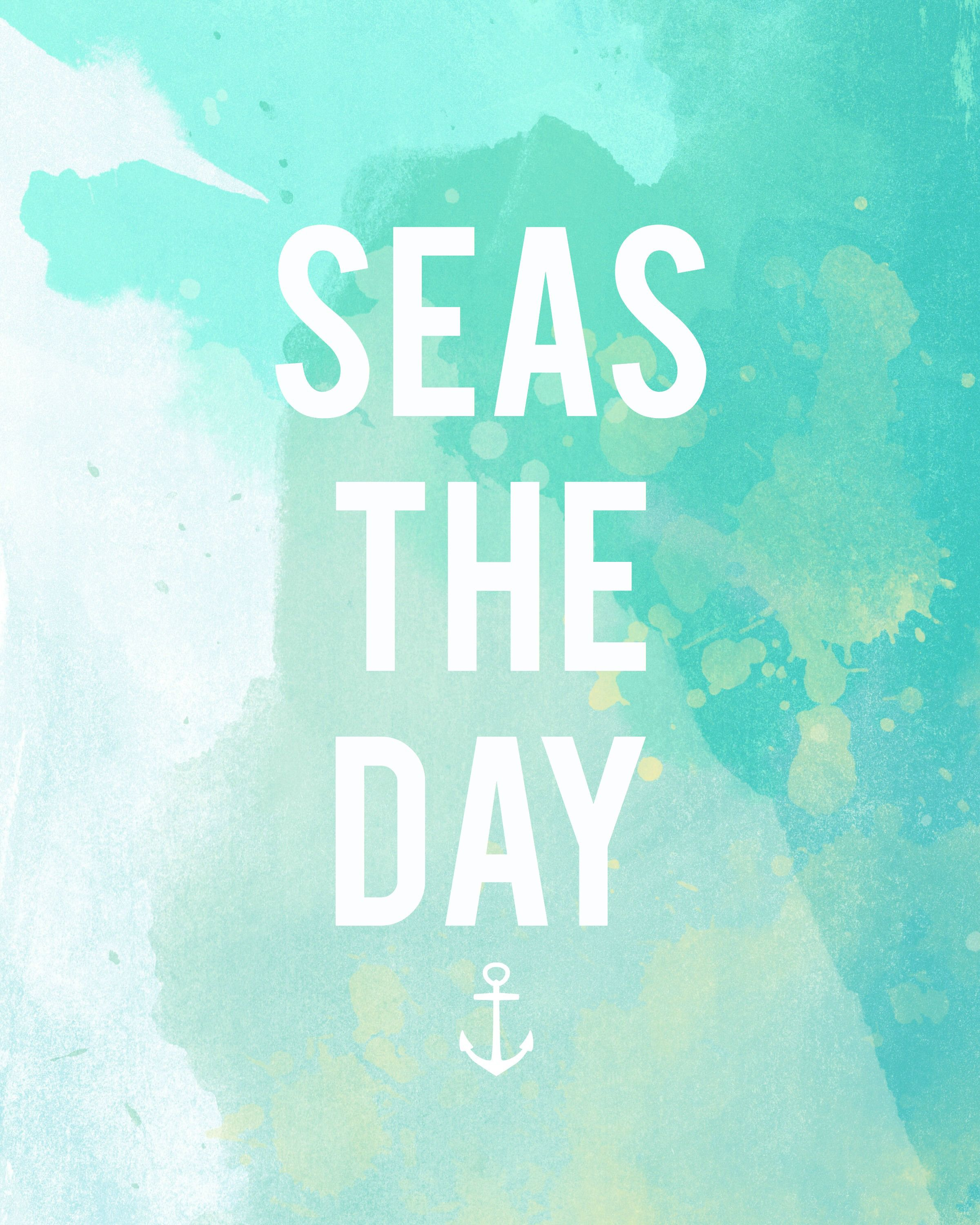 "Quotes For Instagram Photos Summer: ""Seas"" The Day: Free Summer Printable"