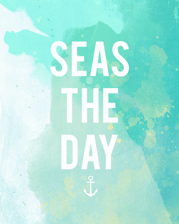 """Seas"" The Day: Free Summer Printable"