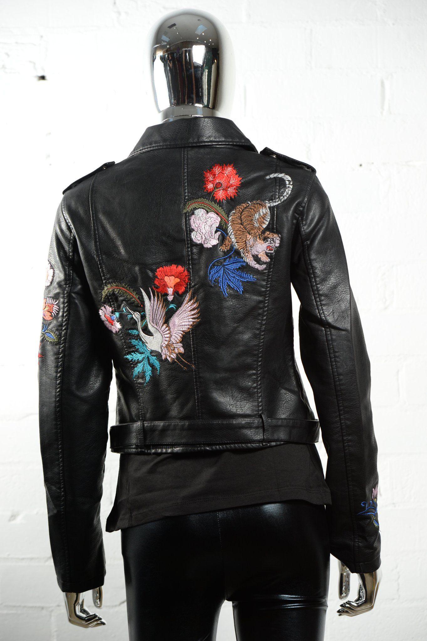 Tiger and Crane Faux Leather Jacket (With images