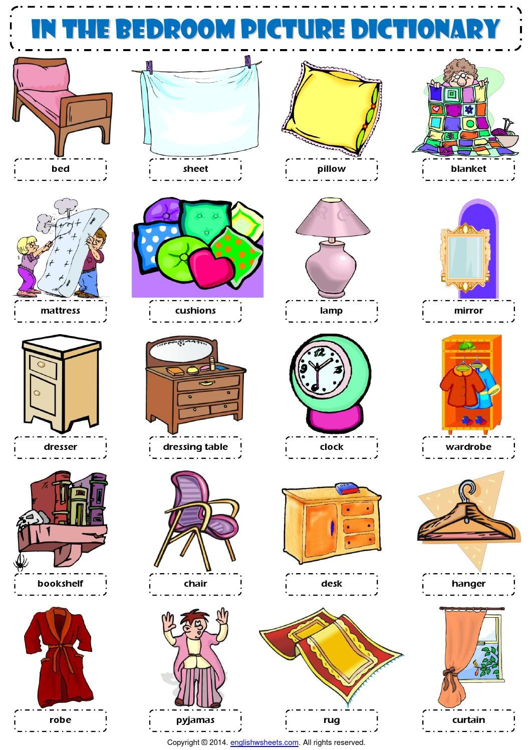 Resultado De Imagen De Furniture Rooms Ingles Vocabulary