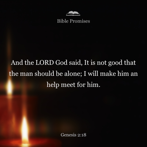god said man should not be alone