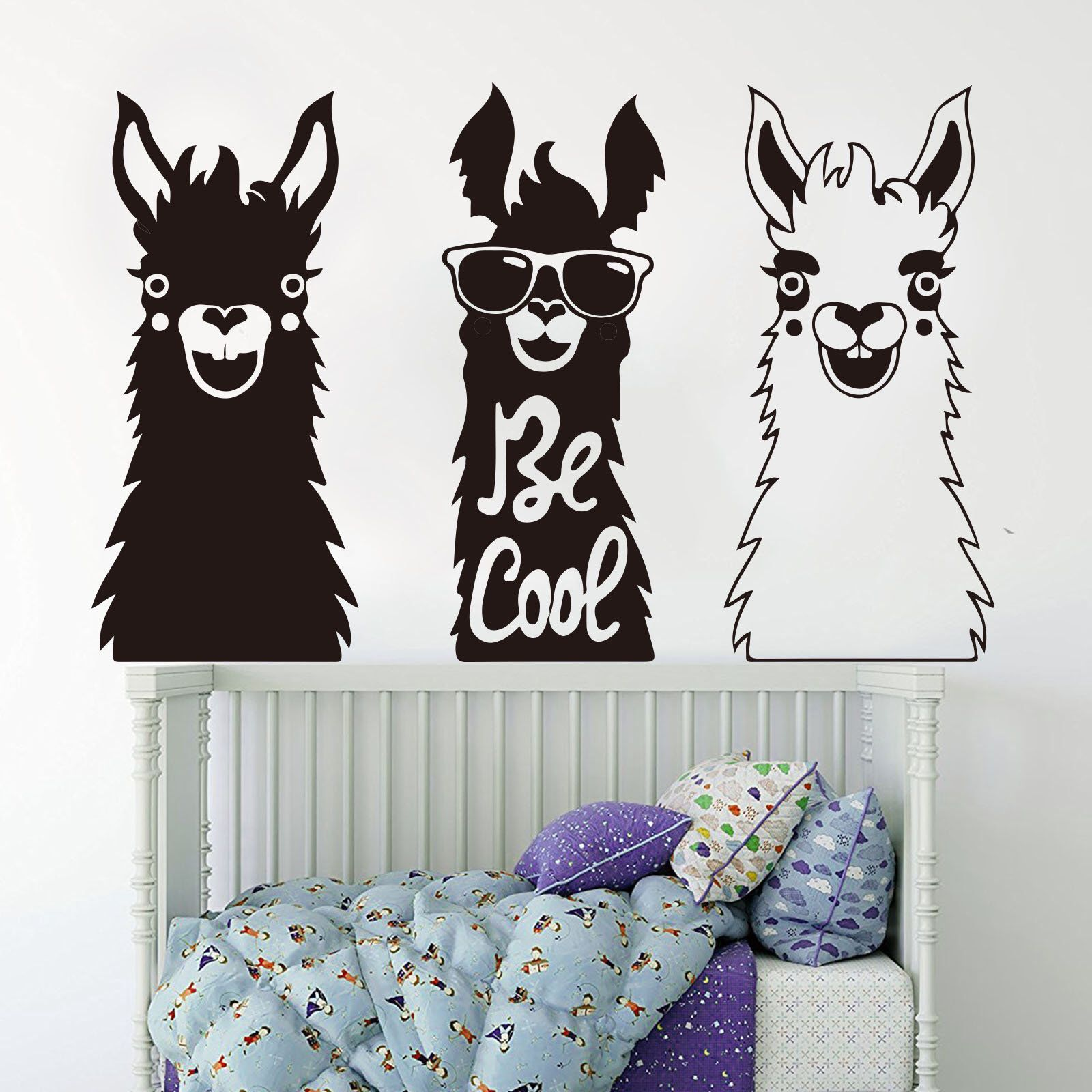 Excited to share the latest addition to my etsy shop set of 3 llama wall decal animal alpaca decalslarge llama alpacas pet zoo wall sticker vinyl art