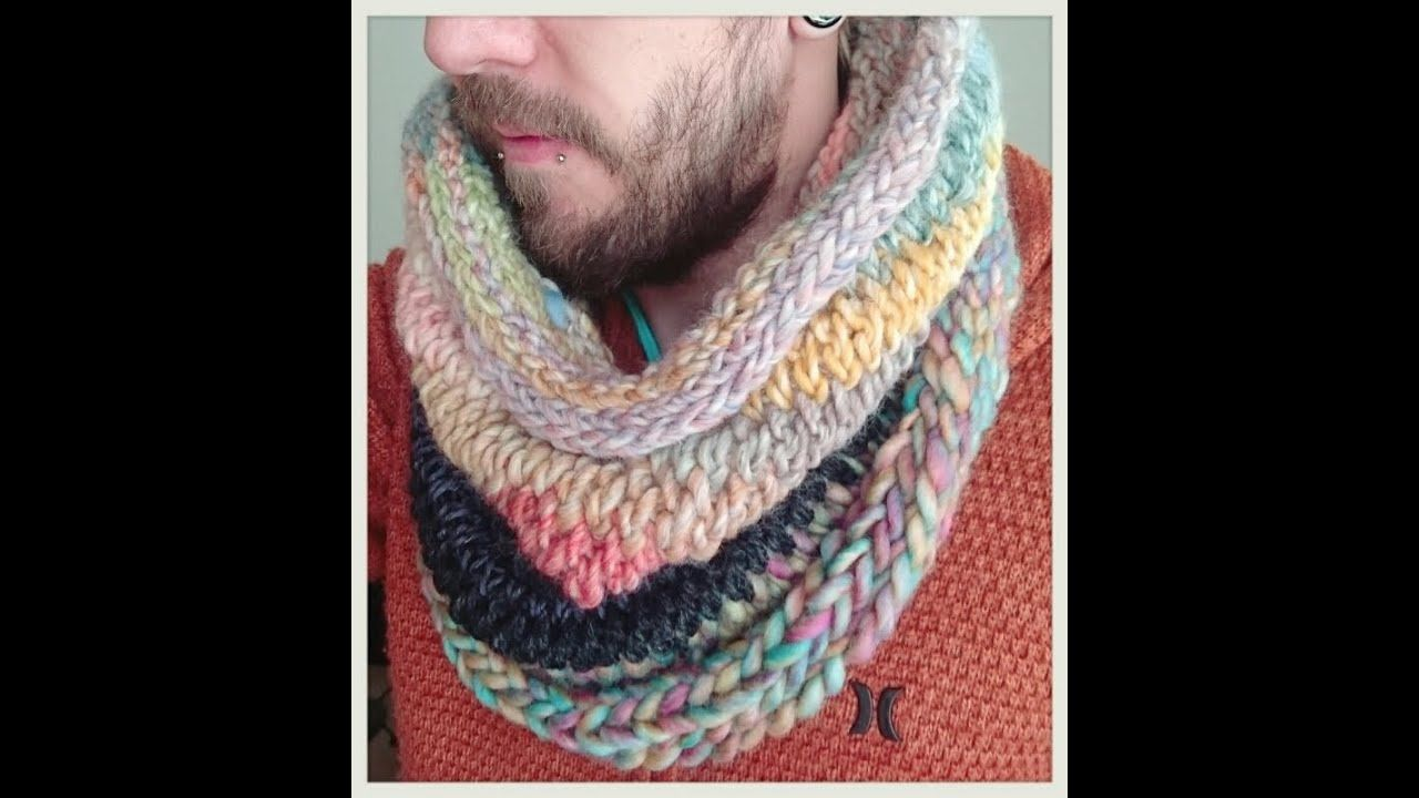Let s Make A Finger Knit No Sew Scarf Snood - YouTube ...