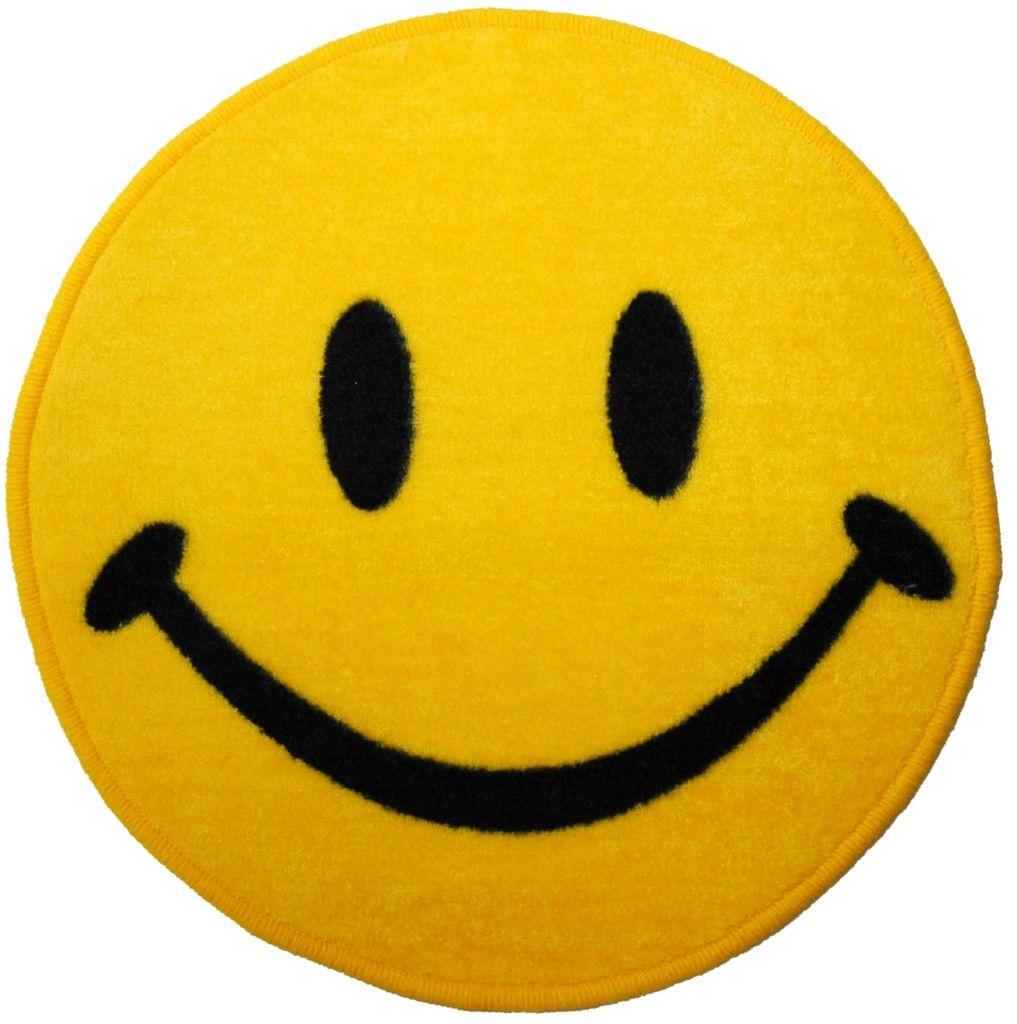 Smiley Face Bathroom Floor Mat Yellow Happy Retro Rug Retro Rugs Bathroom Floor Mat Bathroom Flooring