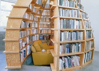 Book Cocoon!! I would love one of this!!  Indeed.