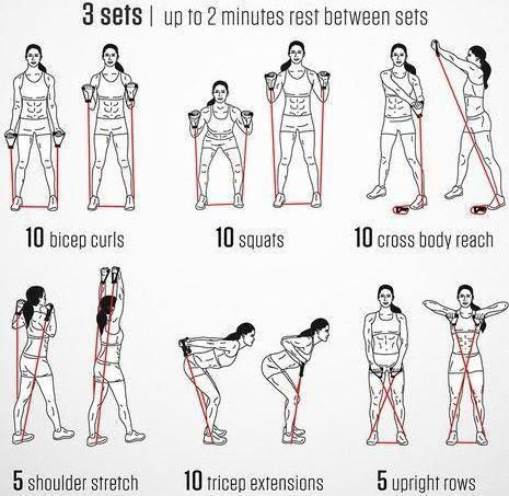 men's fitness  band workouts  resistance band exercises