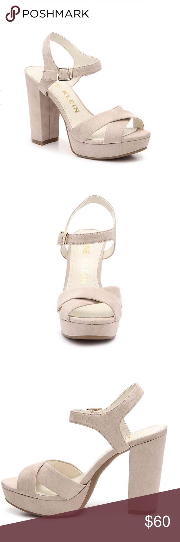 1f96ca43e1b PRICE🔻Anne Klein Sandal Light Pink S 7 Faux Suede Gorgeous Anne Klein  Lalima Sandal