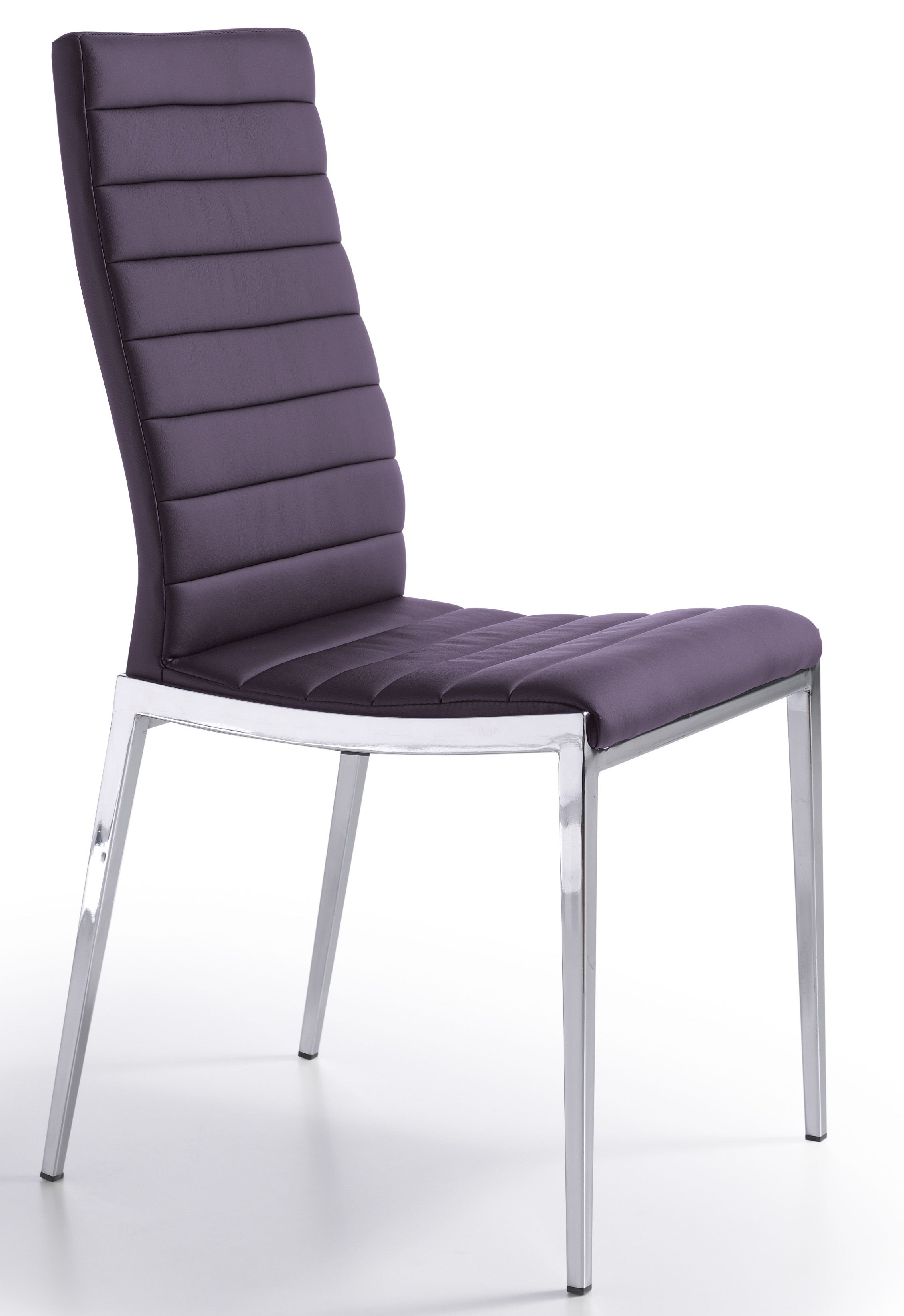 Chaises En Couleur Design Chaise Design Matelassée Violet Dona Lot De 2 Chaise