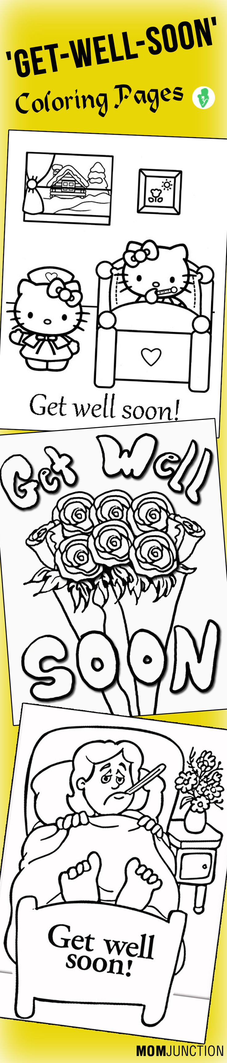 Top 25 Free Printable Get Well Soon Coloring Pages Online | Free ...