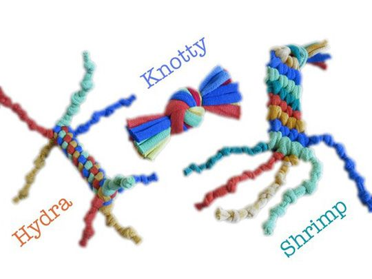 Diy Easy Cat Toys Made From T Shirt Scraps Reminds Me Of The Friendship Bracelets And Lanyard We Use To Make In Camp Cat Toys Diy Cat Toys Homemade Cat Toys