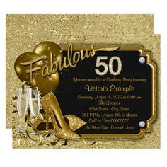 Womans Fabulous 50 Birthday Party Invitation Zazzle Com