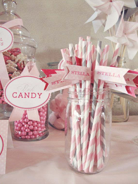 Pretty in Pink Birthday Party Collection  DIY by announcingyou