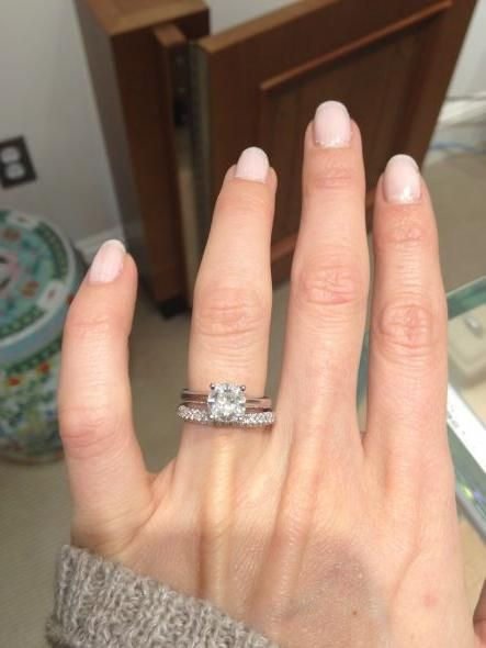 Show Me Your Solitaire Engagement Ring W Wedding Band Weddingbee Page 9