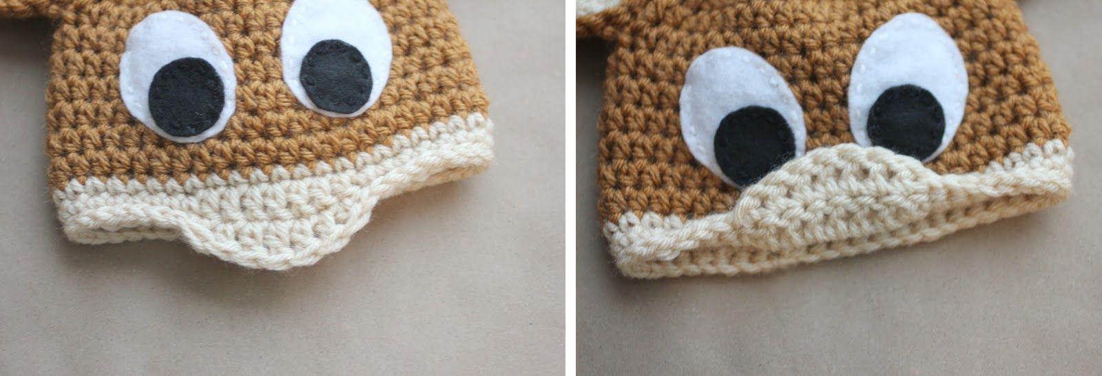 Free Crochet Pattern Baby Receiving Blanket : Repeat Crafter Me: Crochet Rudolph the Reindeer Hat ...