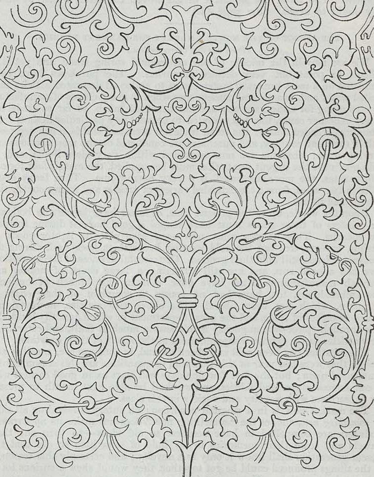 Wallpaper design produced by T. Clarke in 1849.
