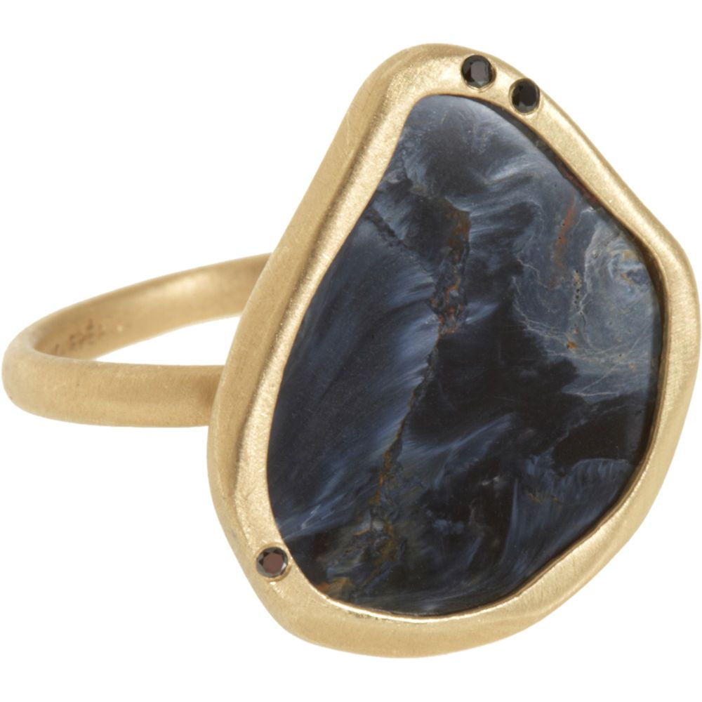 silver band rings exotic product gallery yurman jewelry in pietersite david silverblue lyst large ring stone normal with