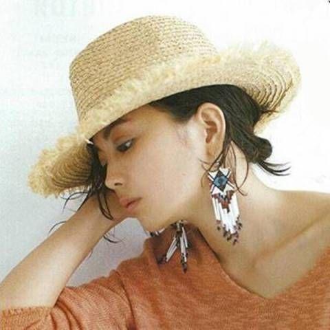 f1067ac50853a0 Raffia wide brim panama hat for women UV beach raw edge straw sun hats