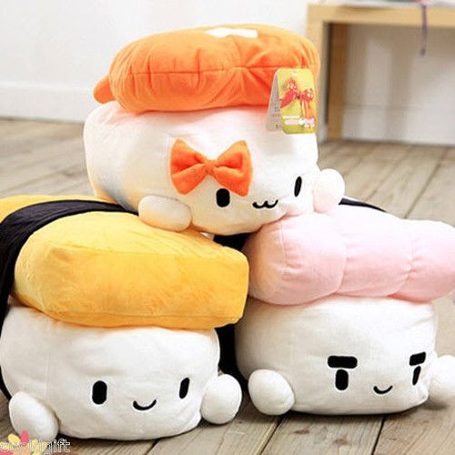 12 Sushi Japan Plush Pillow Cushion Doll Toy Gift Cute Kawaii