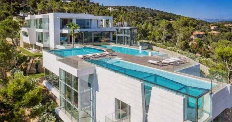 Mansiones Y Casas De Lujo Las Casas Mas Caras Del Mundo Villas De Los Hombres Mas Ricos Modern Mansion Mansions Modern Villa Design