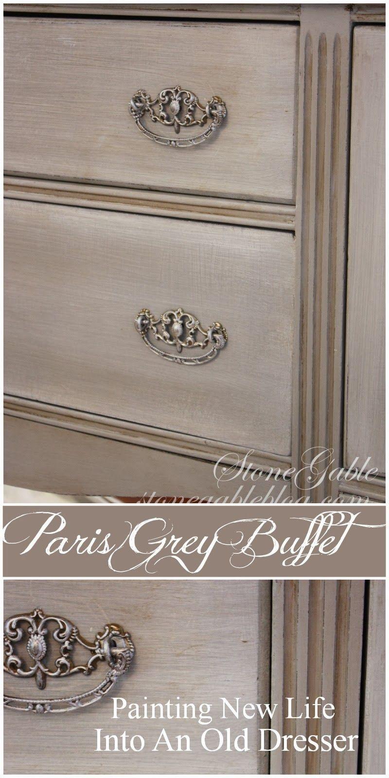 Paris Grey Buffet Avec Images Meuble Peindre Des Meubles Anciens Finition De Meubles