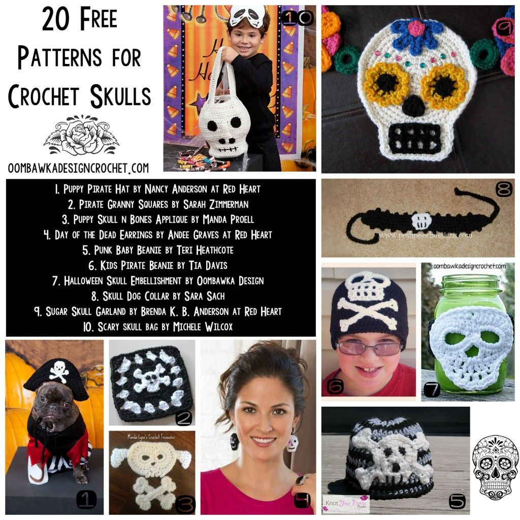 20 free crochet skull patterns link collection at 20 free crochet skull patterns link collection at oombawkadesigncrochet halloween crafts bankloansurffo Image collections