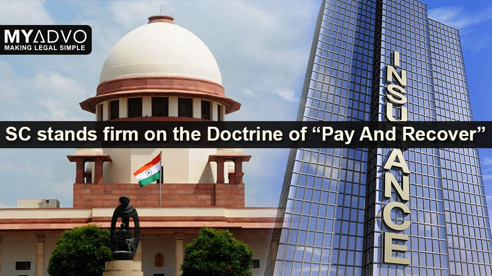 SC Abides by the Doctrine of Recover, Court order