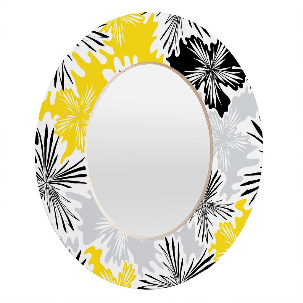 Karen Harris Bumble Bee Whisper Oval Mirror